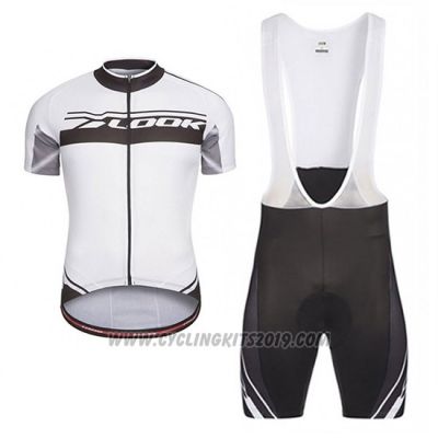 2017 Cycling Jersey Look Pro Equipo Black and White Short Sleeve and Bib Short
