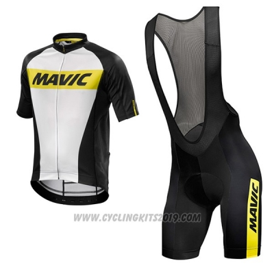 2017 Cycling Jersey Mavic White Short Sleeve and Bib Short