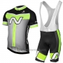2017 Cycling Jersey Nalini Navision Green and Gray Short Sleeve and Salopette
