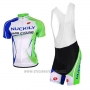 2017 Cycling Jersey Nuckily White and Green Short Sleeve and Bib Short