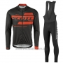2017 Cycling Jersey Scott Black and Orange Long Sleeve and Salopette