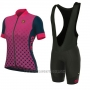 2017 Cycling Jersey Women ALE Excel Bolas Black and Pink Short Sleeve and Bib Short