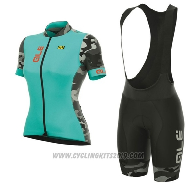 2017 Cycling Jersey Women ALE Prr Ventura Light Blue Short Sleeve and Bib Short