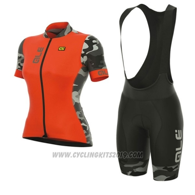 2017 Cycling Jersey Women ALE Prr Ventura Orange Short Sleeve and Bib Short