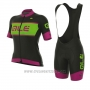 2017 Cycling Jersey Women ALE R-ev1 Master Black and Pink Short Sleeve and Bib Short