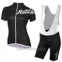 2017 Cycling Jersey Women Nalini Wave Deep Black Short Sleeve and Bib Short