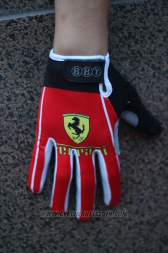 2017 Ferrari Full Finger Gloves Cycling