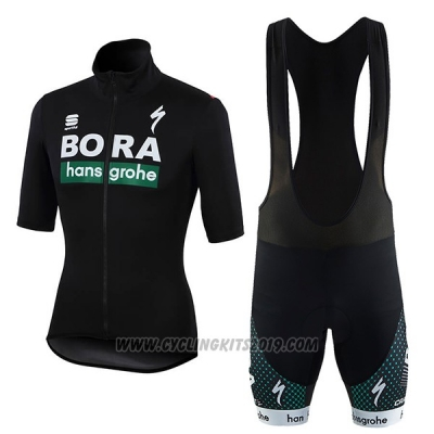 2018 Cycling Jersey Bora Black Short Sleeve and Bib Short