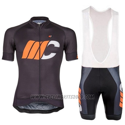 2018 Cycling Jersey Cipollini Shading White Black and Orange Short Sleeve and Bib Short