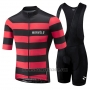 2018 Cycling Jersey Morvelo Black and Red Short Sleeve and Bib Short