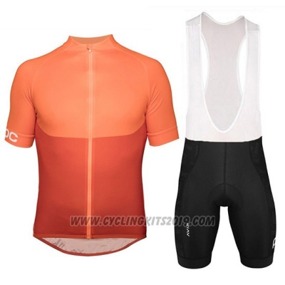 2018 Cycling Jersey POC Essential XC Orange Short Sleeve and Bib Short