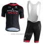 2018 Cycling Jersey Scott Black Red Short Sleeve and Bib Short