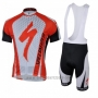2018 Cycling Jersey Specialized Red White Short Sleeve and Bib Short