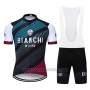 2019 Cycling Jersey Bianchi Blue Black Red Short Sleeve and Bib Short