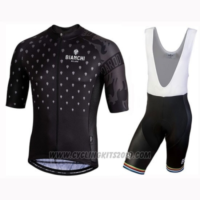 2019 Cycling Jersey Bianchi Mtx Black Short Sleeve and Bib Short