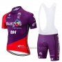 2019 Cycling Jersey Burgos BH Purple Red Short Sleeve and Bib Short