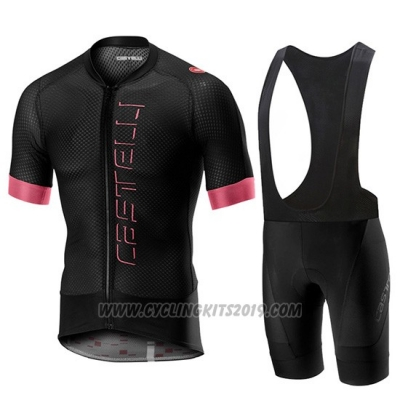 2019 Cycling Jersey Castelli Climber's 2.0 Black Pink Short Sleeve and Bib Short