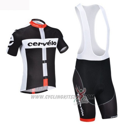 2019 Cycling Jersey Cervelo Black White Short Sleeve and Bib Short