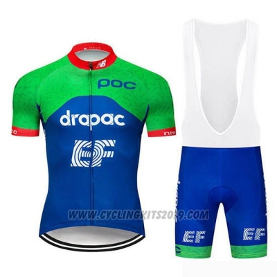 2019 Cycling Jersey Ef Education First Green Blue Short Sleeve and Bib Short