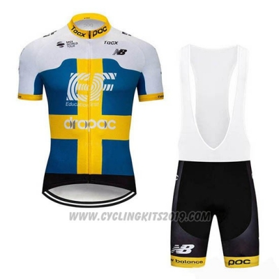 2019 Cycling Jersey Ef Education First Sweden Short Sleeve and Bib Short