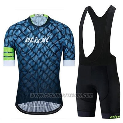 2019 Cycling Jersey Etixxl Blue Short Sleeve and Bib Short