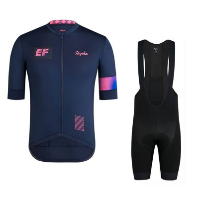 2019 Cycling Jersey Rapha Deep Blue Short Sleeve and Bib Short