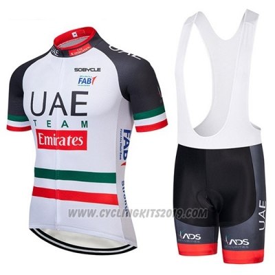 2019 Cycling Jersey UCI World Champion UAE White Black Red Short Sleeve and Bib Short