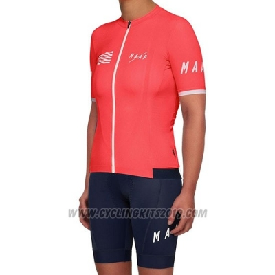 2019 Cycling Jersey Women Maap Red Short Sleeve and Bib Short