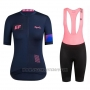 2019 Cycling Jersey Women Rapha Dark Blue Pink Short Sleeve and Bib Short