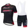 2020 Cycling Jersey Kuota Black Red Short Sleeve and Bib Short
