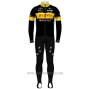 2020 Cycling Jersey Lotto-kern Hausblack Yellow Long Sleeve and Bib Tight