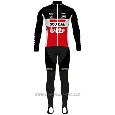 2020 Cycling Jersey Lotto Soudal Black White Red Long Sleeve and Bib Tight(1)