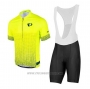 2020 Cycling Jersey Pearl Izumi Yellow Black Short Sleeve and Bib Short