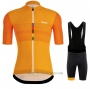 2020 Cycling Jersey Rapha Orange Short Sleeve and Bib Short