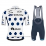 2020 Cycling Jersey Subaru Lider White Blue Short Sleeve and Bib Short