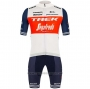 2020 Cycling Jersey Trek Segafredo White Deep Blue Short Sleeve and Bib Short