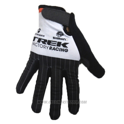 2020 Trek Factory Racing Full Finger Gloves Black White