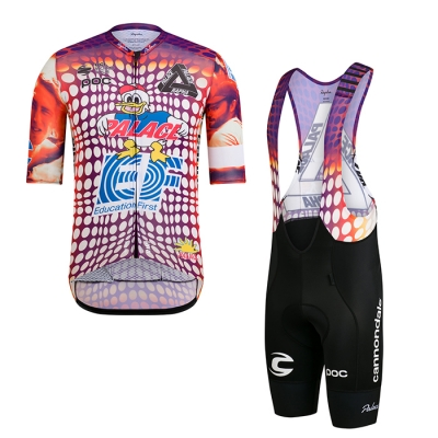 2021 Cycling Jersey EF Education First Pink Short Sleeve and Bib Short