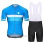 2021 Cycling Jersey Steep Blue Short Sleeve and Bib Short(2)
