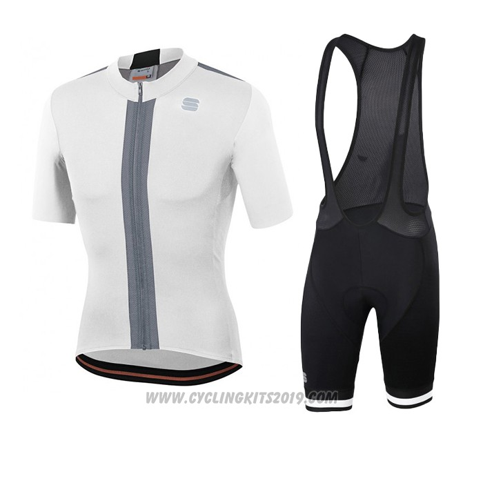 2020 Cycling Jersey Sportful White Short Sleeve and Bib Short
