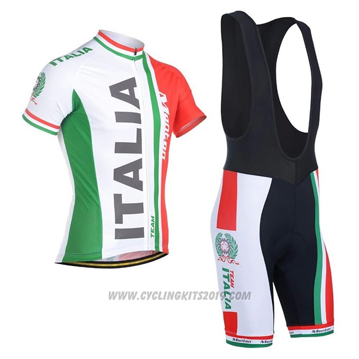 2021 Cycling Jersey Italy Red Green Short Sleeve and Bib Short